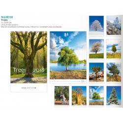 Луксозен календар с възможност за брандиране Trees 2018