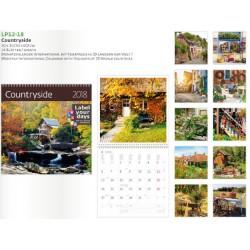 Луксозен 14 листов календар Countryside 2018