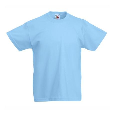 Памучна детска тениска с обло деколте Fruit of the Loom