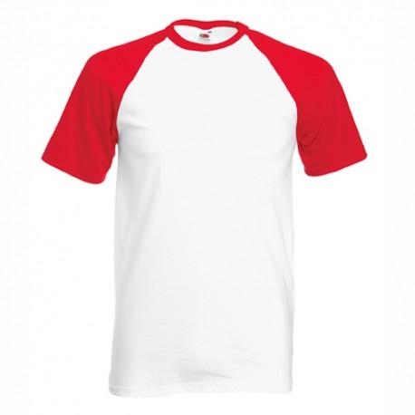 Двуцветна мъжка тениска с къс ръкав Fruit of the Loom