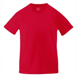 Детска полиестрна тениска за печат Fruit of the Loom