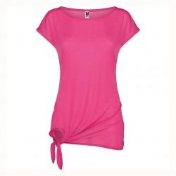 Дамска тениска със скосени ръкави и широко деколте Roly