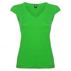 Дамска памучна тениска с V-образно деколте Roly