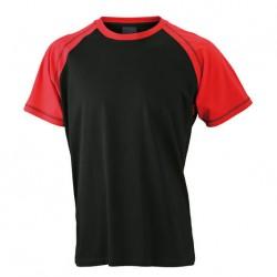 Висококачествена двуцветна мъжка тениска James & Nicholson
