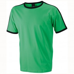 Памучна мъжка двуцветна тениска James & Nicholson