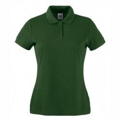 Рекламни дамски тениски с якичка Fruit of the Loom