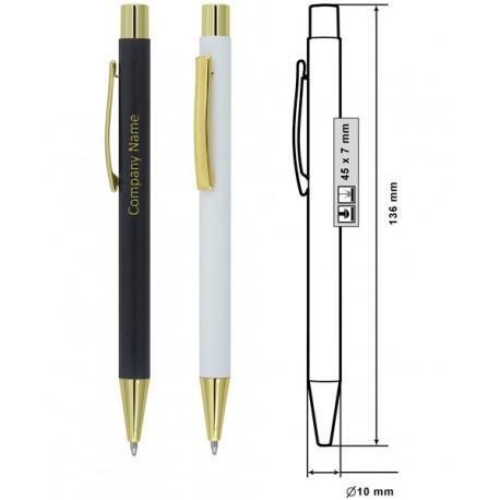 Стилна рекламна метална химикалка