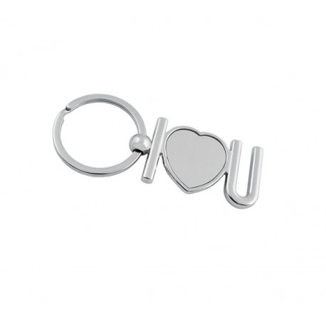 Рекламен метален ключодържател ''I love you''