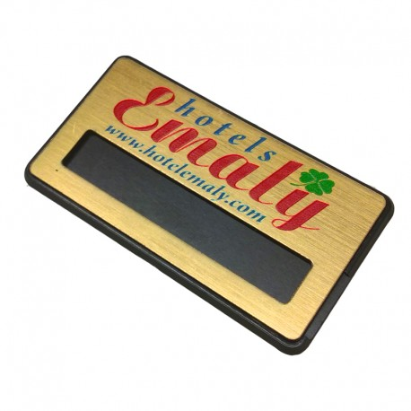 Акрилен бадж с прорез за име на служител и с гравирано лого на фирма
