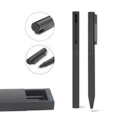 Рекламен метален комплект химикалка и ролер,в кутия за печат