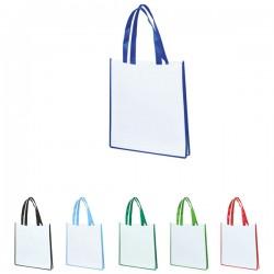 Ракламна еко чанта с цветни дръжки