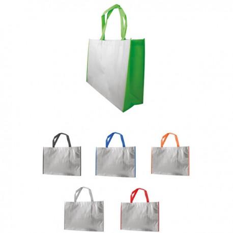 Еко чанта,с цветни дръжки за печат и бродерия
