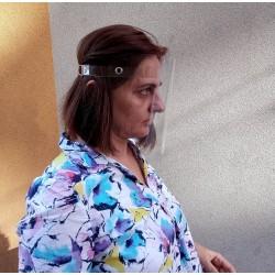 Защитен шлем от прозрачен PVC материал