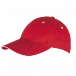 Рекламна шапка с контрастен ръб на козирката Roly