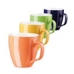 Керамична цветна чаша с бяла вътрешност