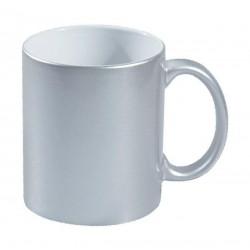 Керамична сребриста чаша за печат