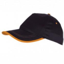 Памучна шапка с контрастен ръб на козирката Roly