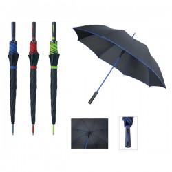 Черен голф чадър с цветен кант и конструкция