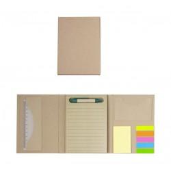 Еко тефтер с химикалка,линия и самозалепващи листчета