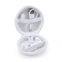 Рекламни безжични слушалки с вграден контролен панел и микрофон за печат