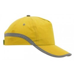Памучна шапка със странична контрастна ивица