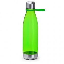 Бюджетна полупрозрачна бутилка с капачка и основа от неръждаема стомана за брандиране