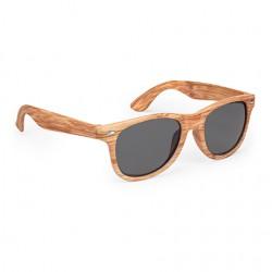 Рекламни слънчеви очила с UV400 защита и рамка с дървесен ефект за брандиране
