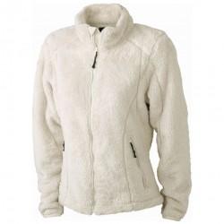 Плътно дамско яке от дългокосмест полар James & Nicholson