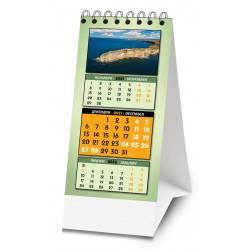 Мини календар с панорамни снимки от България