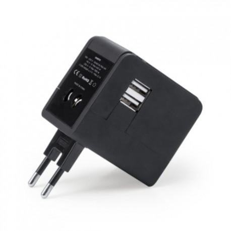 Компактен,прибиращ се адаптер с 2 USB изхода за брандиране
