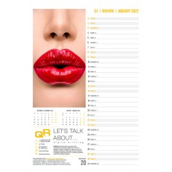 Оригинален 12 листов календар с атрактивен дизайн