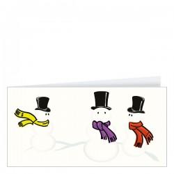 Коледна и новогодишна поздравителна картичка