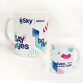 Рекламна чаша с печат на лого в 8 цвята