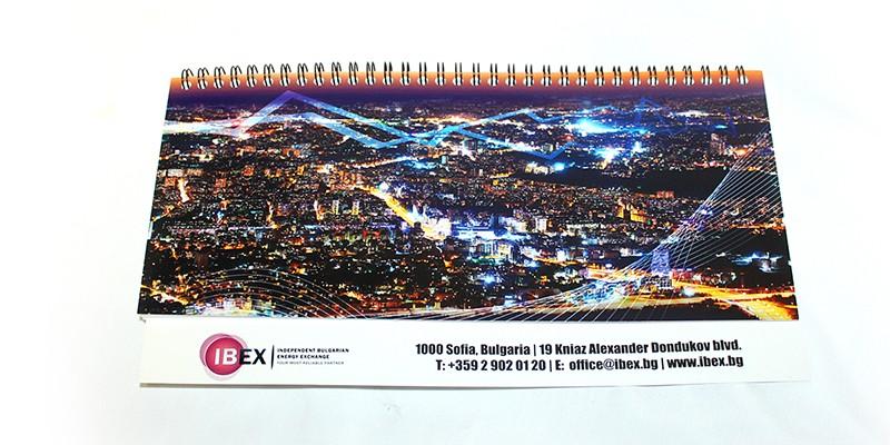 Рекламни материали - печат на настолен календар IBEX