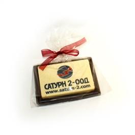 Шоколадова визитка с печат на лого