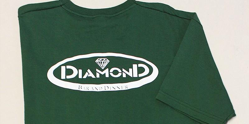 Ситопечт на тъмно зелени тениски